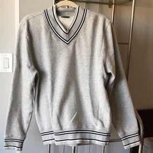 Club Monaco heather gray vneck sweatshirt